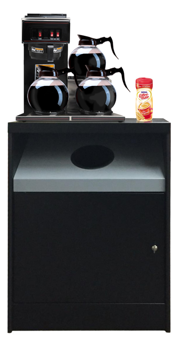 Ocs 200 Tr Sf Is A Full Size Coffee Stand With Trash Hole And Room In The Cabinet For Your Waste Basket Keep Those Pesky Used Condiment Packets Stir