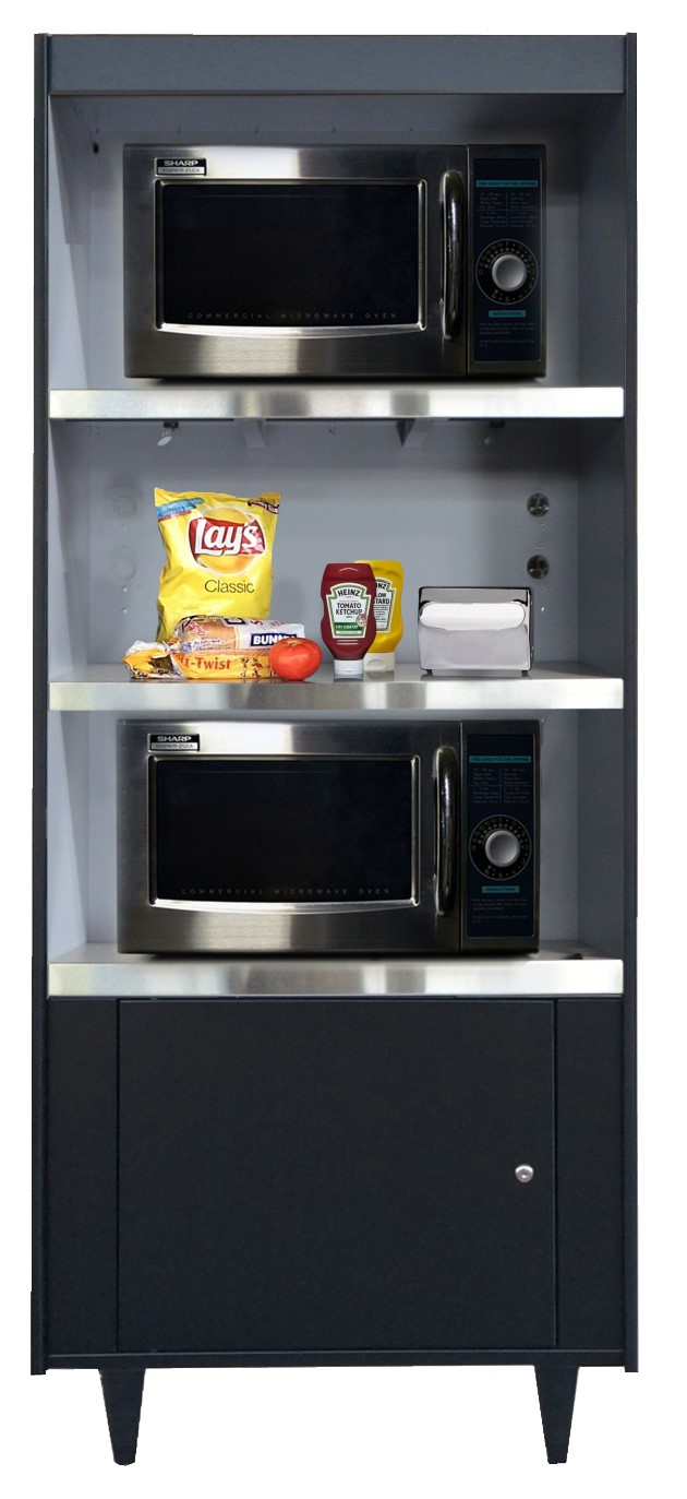 As273 N L Our Newest Condiment Stand For Up To 3 Microwaves