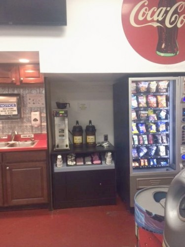 A COCA-COLA Break-room.